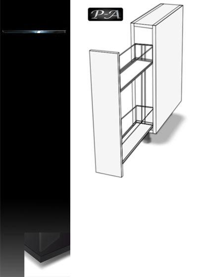 unterschrank apothekerschrank vollauszug softclosing 2 korb ebenen hochglanz g nstig. Black Bedroom Furniture Sets. Home Design Ideas