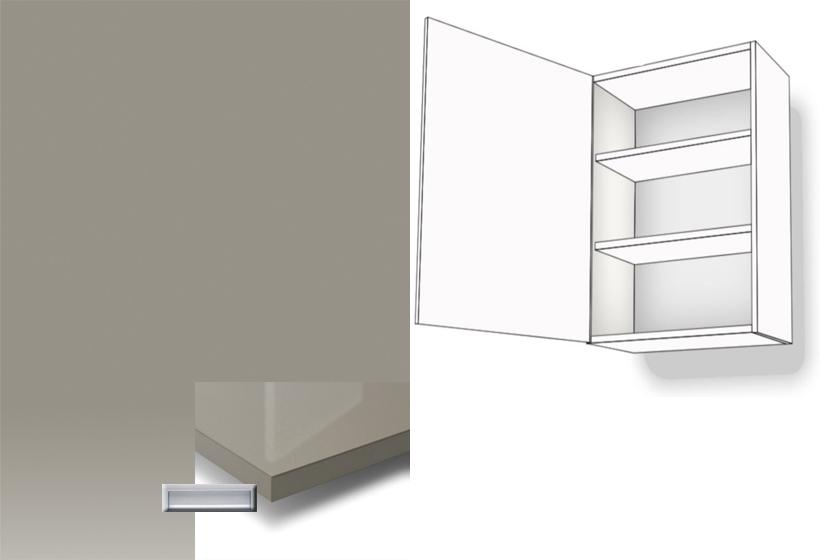 h ngeschrank 1 t rig 2 fachb den 72cm anschlag li eingelassener griff schlie d mpfer montageschiene. Black Bedroom Furniture Sets. Home Design Ideas