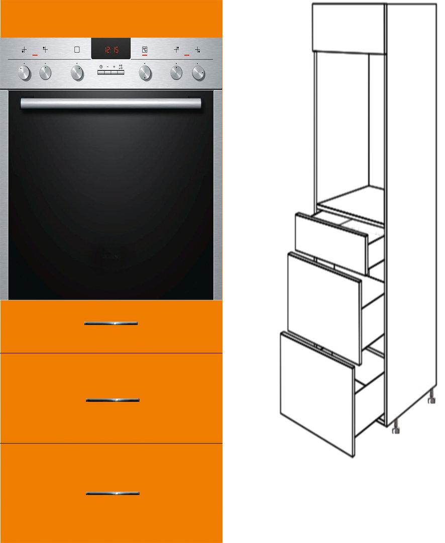 3 schubladen herd micro 60cm breit 154cm hoch softclosing. Black Bedroom Furniture Sets. Home Design Ideas