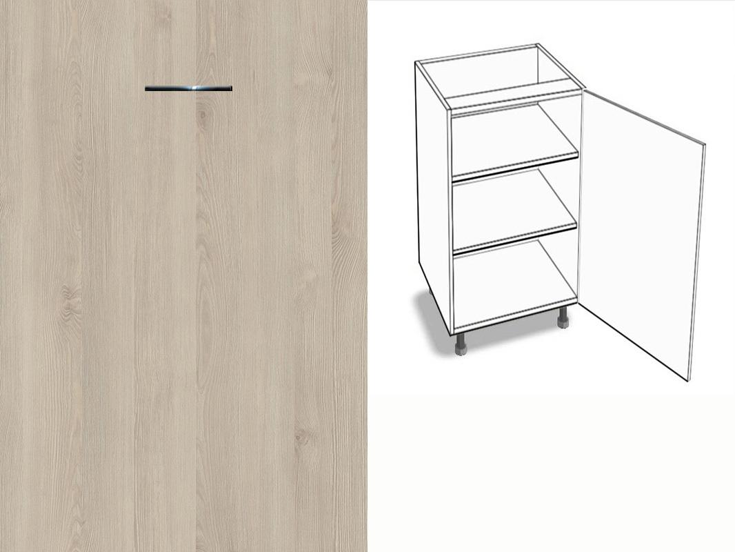 unterschrank 1 t rig 2 fachb den schlie d mpfer anschlag rechts eurodekor. Black Bedroom Furniture Sets. Home Design Ideas