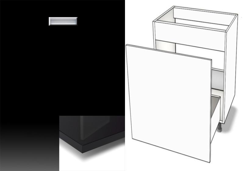 unterschrank abfallsystem sp le metalbox softclosing eingelassener griff hochglanz. Black Bedroom Furniture Sets. Home Design Ideas