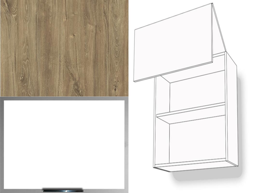 h ngeschrank hochfaltklappe mattglasalu 1 fachboden 72cm hoch aventos hf montageschiene inkl. Black Bedroom Furniture Sets. Home Design Ideas