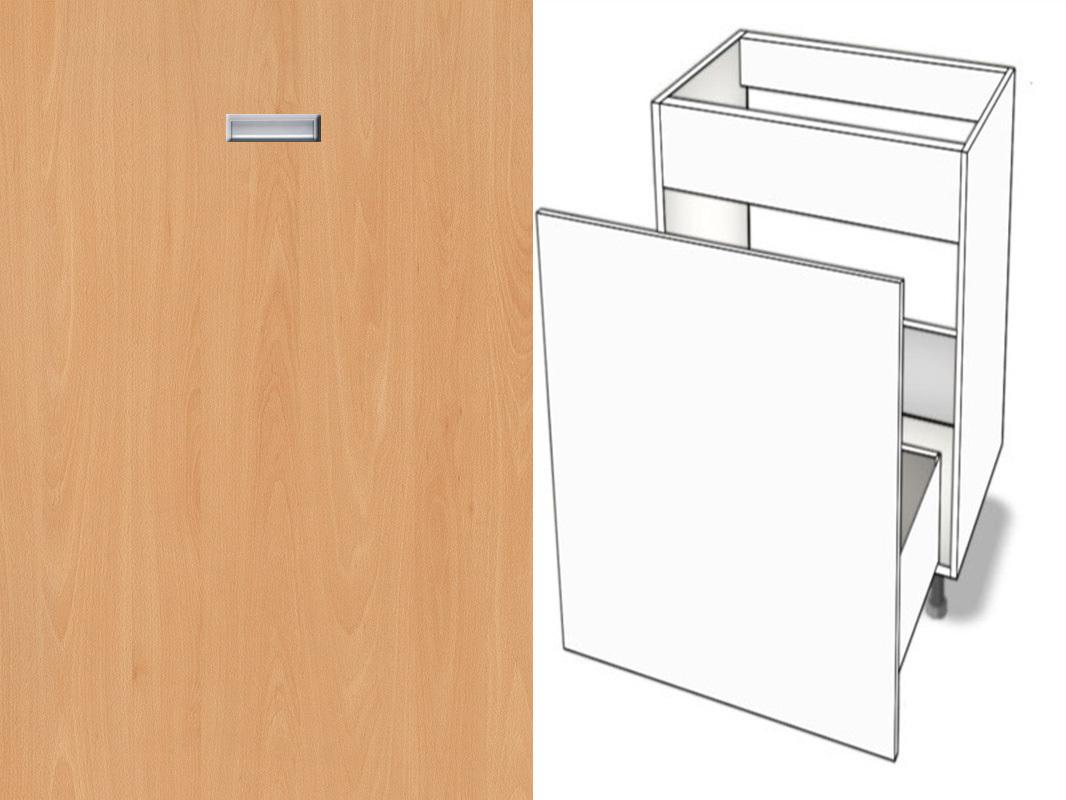 Unterschrank Abfallsystem-Spüle Metalbox Softclosing eingelassener Griff