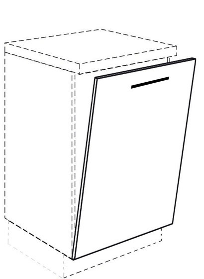 unterschrank front f r geschirrsp ler vollintegriert g nstiger. Black Bedroom Furniture Sets. Home Design Ideas