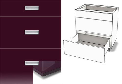 Küchenunterschrank 3-Schubladen Softclosing Metalbox günstig!