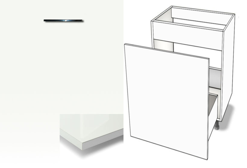 Favorit Unterschrank Abfallsystem-Spüle Metalbox softclosing HOCHGLANZ HD49